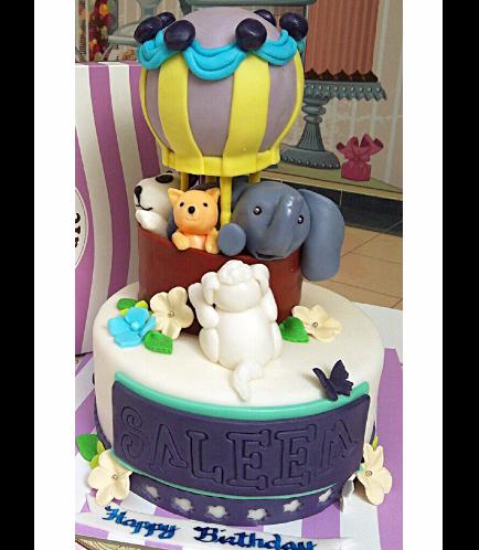 Hot Air Balloon Themed Cake 01