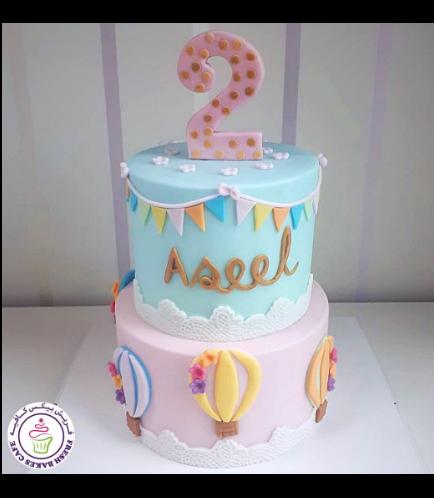 Hot Air Balloon Themed Cake 04a
