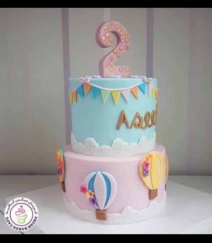 Hot Air Balloon Themed Cake 04b