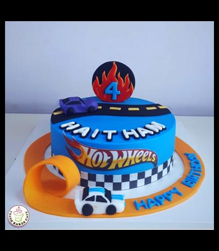 Hot Wheels Themed Cake