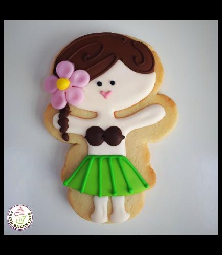 Hula Girl Themed Cookie