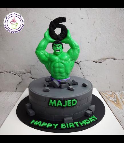 Hulk Themed Cake - 3D Character - Half Body 02