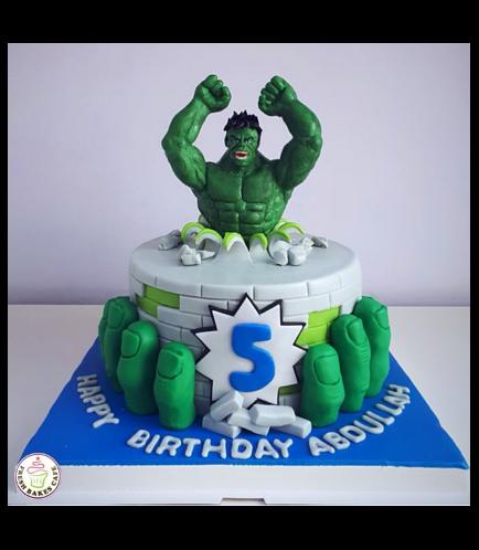 Hulk Themed Cake - 3D Character 01