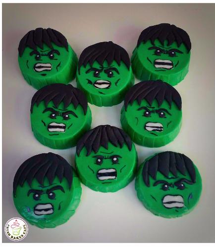 Hulk Themed Chocolate Covered Oreos