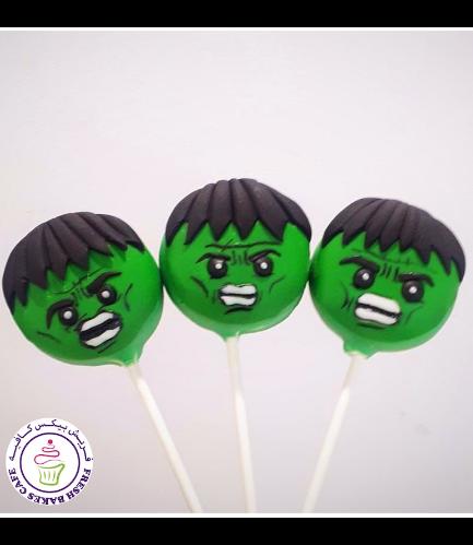 Hulk Themed Donut Pops