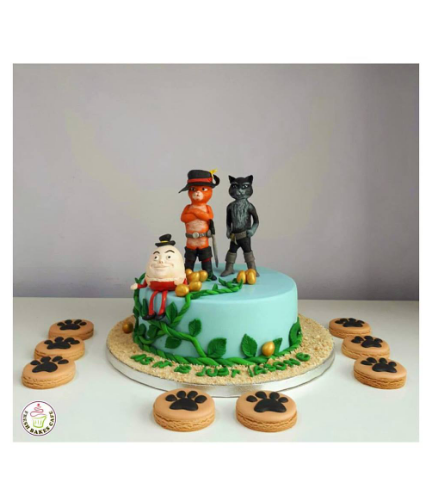 Humpty Dumpty & Puss in Boots Themed Cake