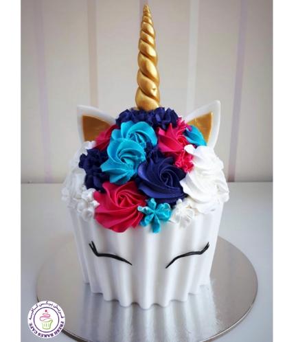 Unicorn Themed Mega Cupcake