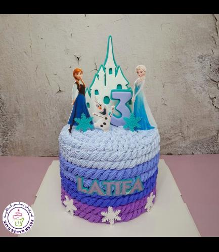 Cream Ombre Cake - Rope - Purple