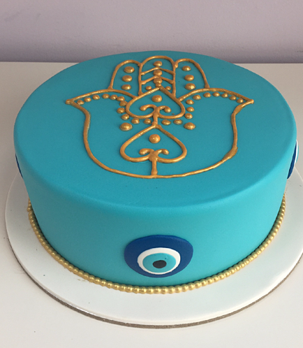 Khamsa & Evil Eye Themed Cake