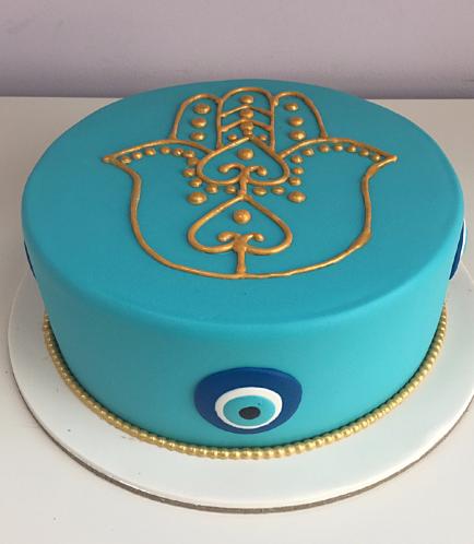 Khamsa & Evil Eye Themed Cake