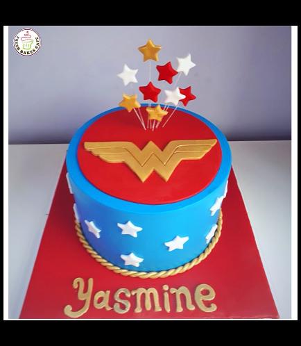 Wonder Woman Themed Cake - Logo