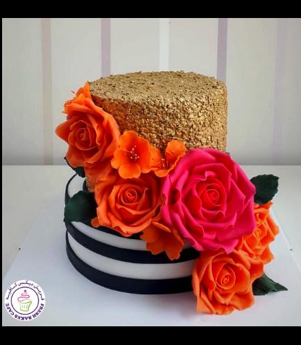 Cake - Flowers - 2 Tier 03