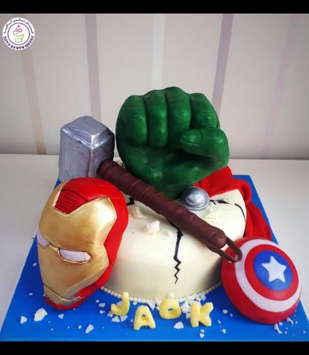Superheroes Themed Cake 20