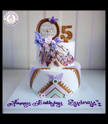 Dream Catcher Themed Cake 02