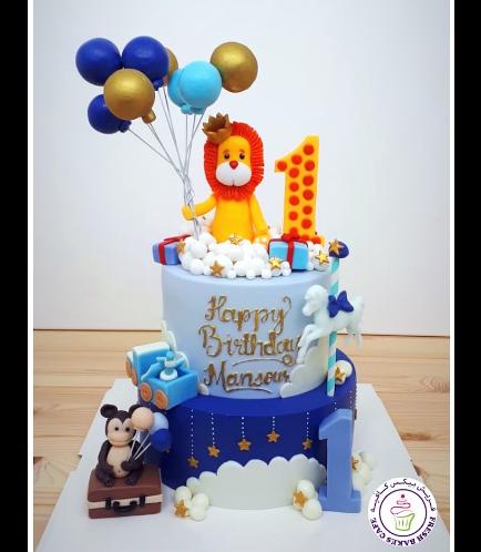 Lion Themed Cake - 3D Cake Topper - 2 Tier