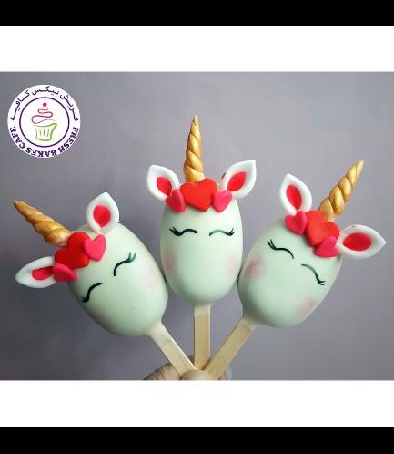 Valentine's Themed Popsicakes - Unicorns 01