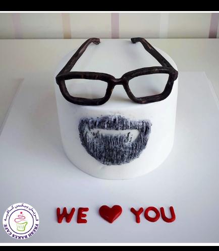 Beard & Glasses Themed Cake