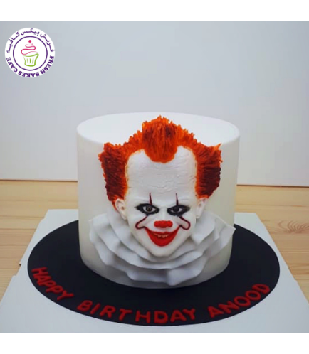 IT Movie Themed Cake - Pennywise 2D Cake Topper