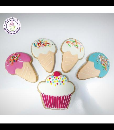 Ice Cream & Cupcake Themed Cookies
