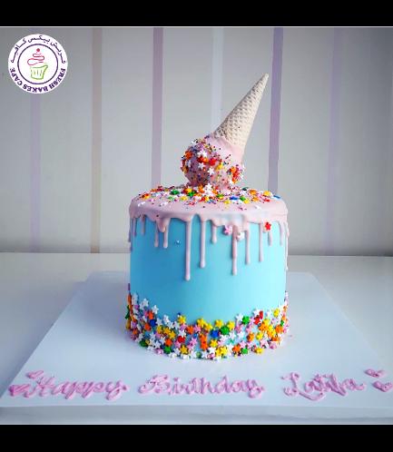 Cake - Ice Cream - 1 Tier 03