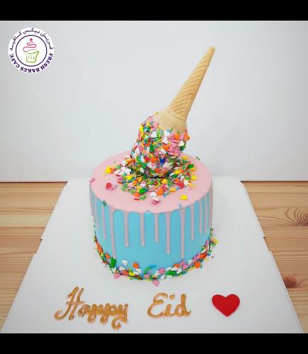 Ice Cream Themed Cake - Drizzle Cake - 1 Tier 03