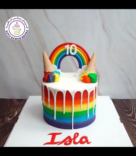 Ice Cream Themed Cake - Drizzle Cake - 1 Tier 04