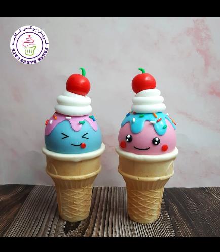 Ice Cream Themed Cone Cake Pops 02
