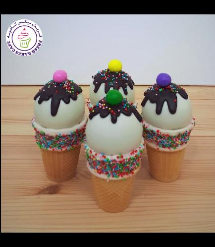 Ice Cream Themed Cone Cake Pops 05