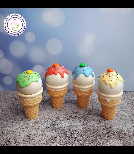 Ice Cream Themed Cone Cake Pops 06