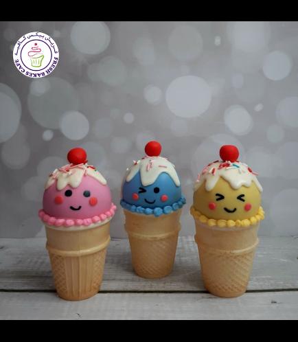 Ice Cream Themed Cone Cake Pops 07