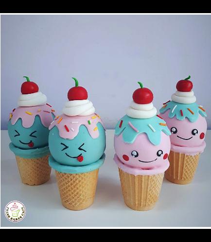 Ice Cream Themed Cone Cake Pops 04