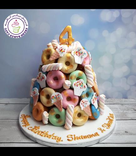 Ice Cream Themed Donut Tower