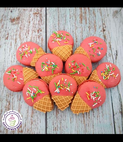 Ice Cream Themed Macarons