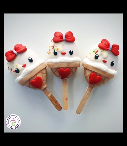 Ice Cream Themed Popsicakes