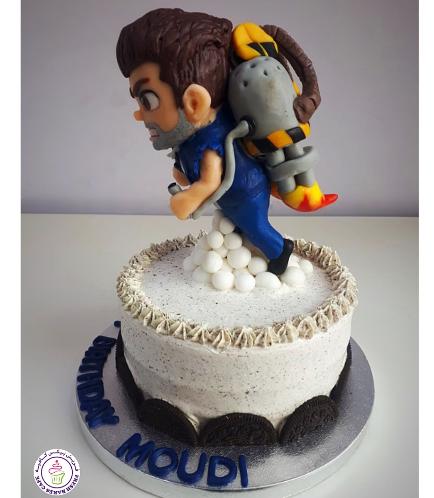 Jetpack Joyride Themed Cake 01b