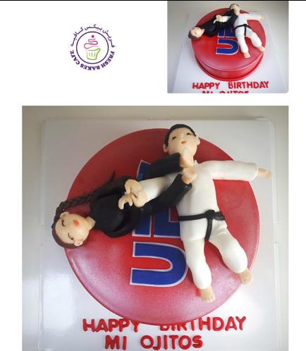Jiu Jitsu Themed Cake 3