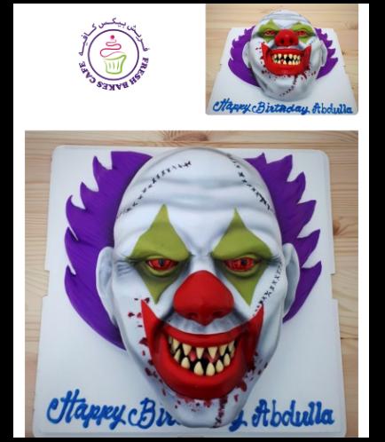 Joker Themed Cake - 3D Scary Joker Cake