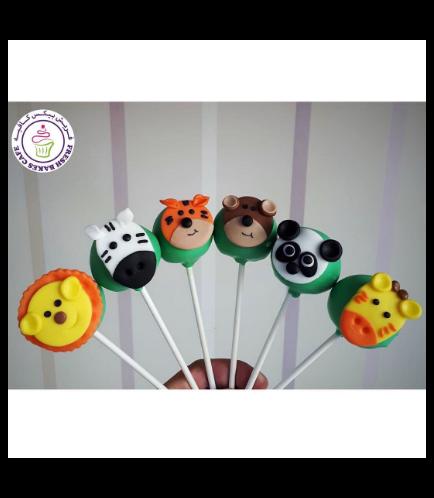 Animals Themed Cake Pops - Jungle Animals 05