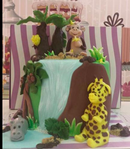 Jungle Animals Themed Cake 1