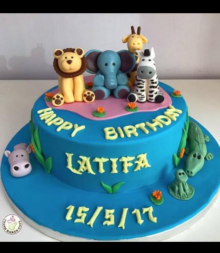 Jungle Animals Themed Cake 07
