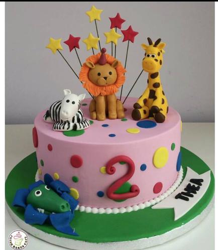 Jungle Animals Themed Cake 08