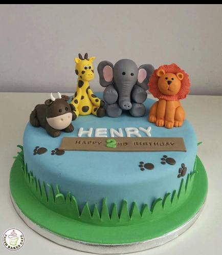 Jungle Animals Themed Cake 09a