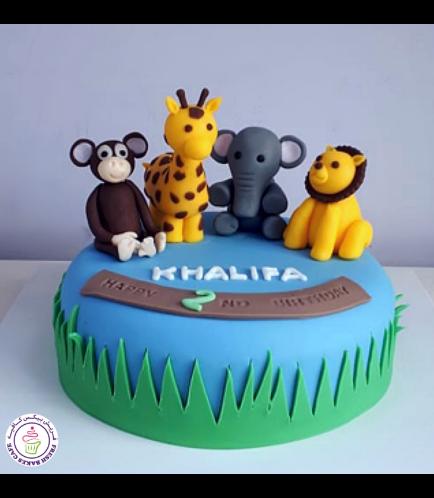 Jungle Animals Themed Cake 09b