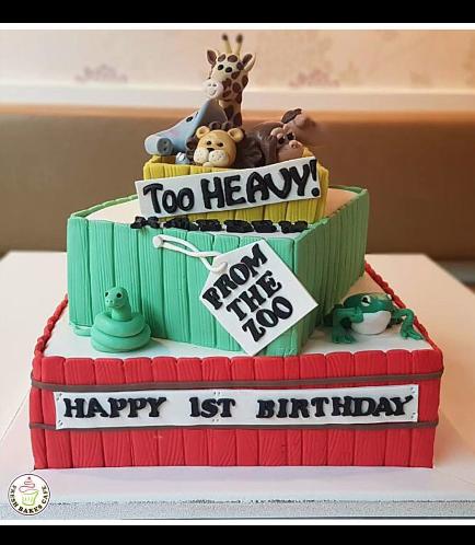 Jungle Animals Themed Cake 10a