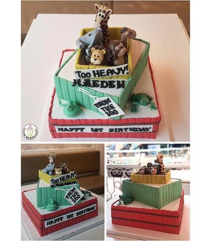 Jungle Animals Themed Cake 10b