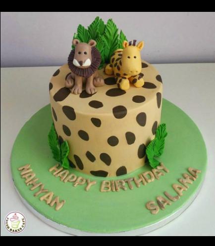 Jungle Animals Themed Cake 11