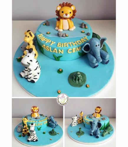 Jungle Animals Themed Cake 12