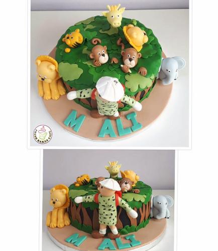 Jungle Animals Themed Cake 13