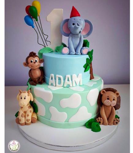 Jungle Animals Themed Cake 14a