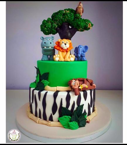 Jungle Animals Themed Cake 15